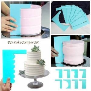 DIY Cake Scraper Set