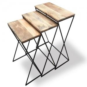 Industrial Light Mango Cross-Leg Trio Nest
