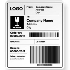 Shipping Barcode Labels