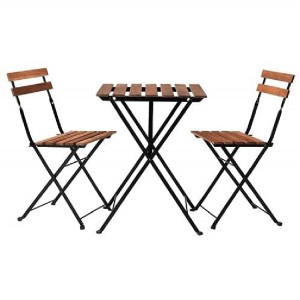 Table and 2 Chairs Wood