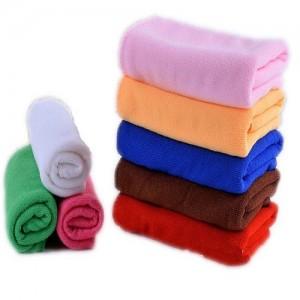Flower Printed Polyester Towel