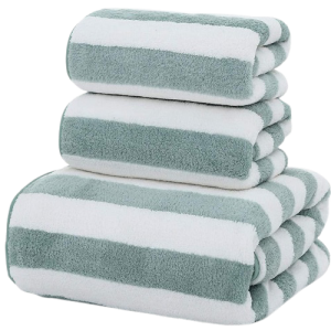 Striped Polyester Towel