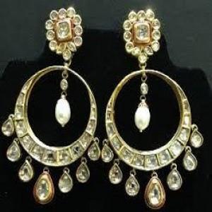 Beautiful Polki Earrings for Women