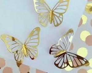 Artificial Golden Butterfly