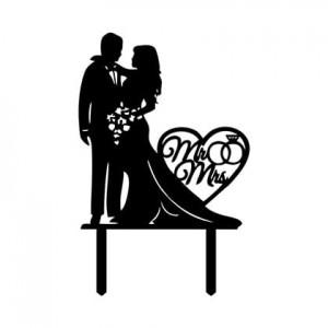 Mr&Mrs Cake Topper