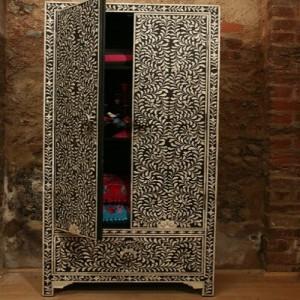 Black Bone Almirah Cupboard